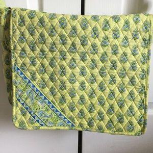 Vera Bradley Citrus Messenger Bag Lime Green Blue
